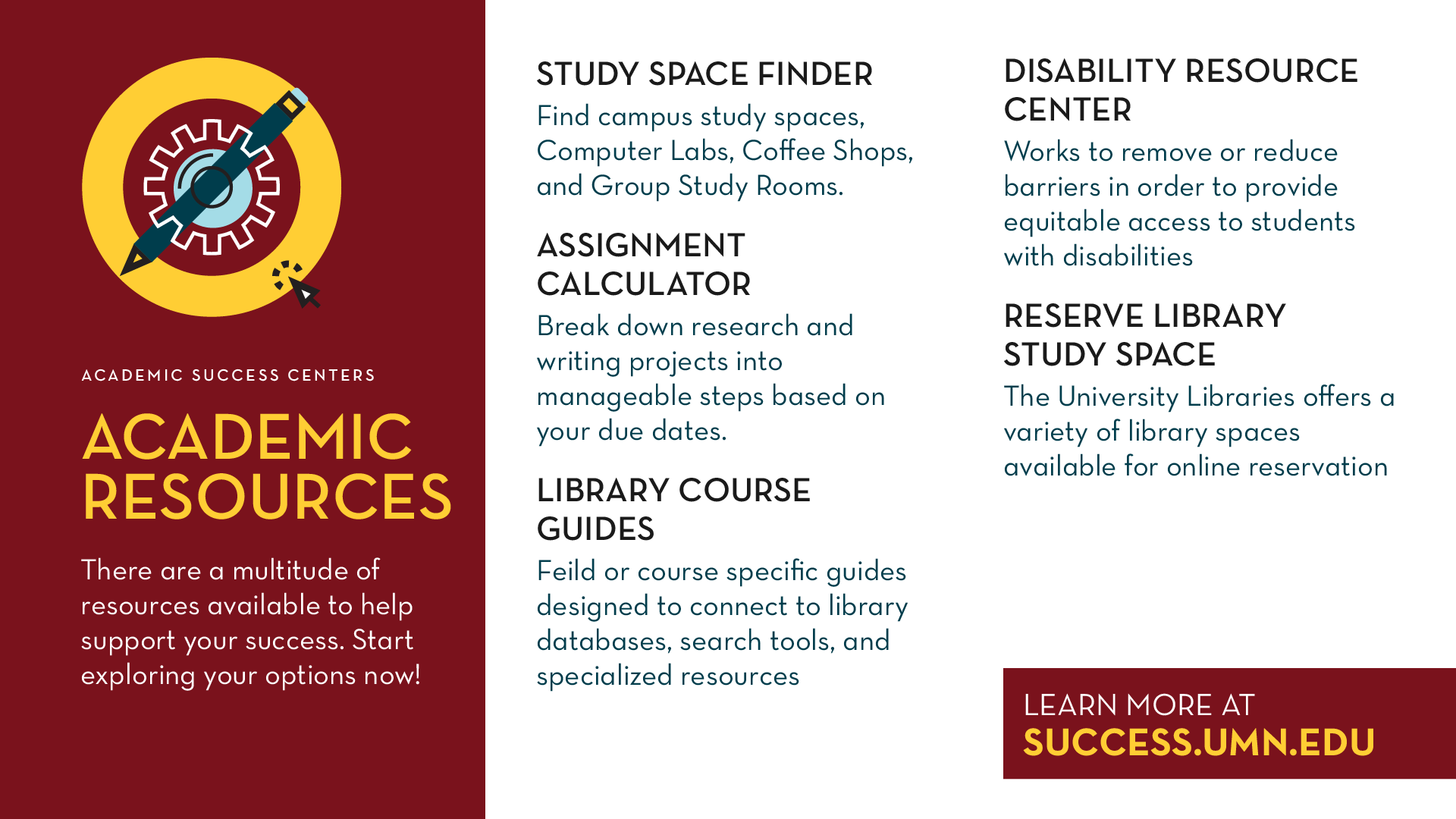 Academic Resources Promo Slide